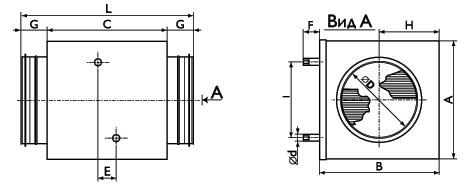 Канальный нагреватель d200мм теплообменник изготовленный из пакета медных трубок с алюминиевым оребр теплообменник для преобразовательных устройств